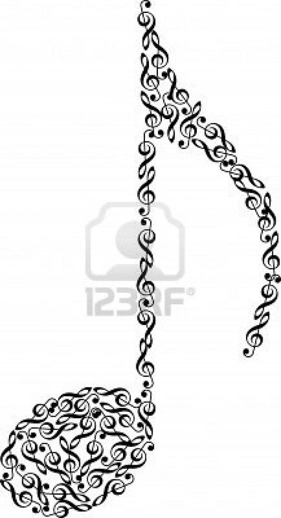 isolated music note from clefs on white background Stock Photo.