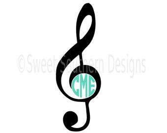Music clef print.