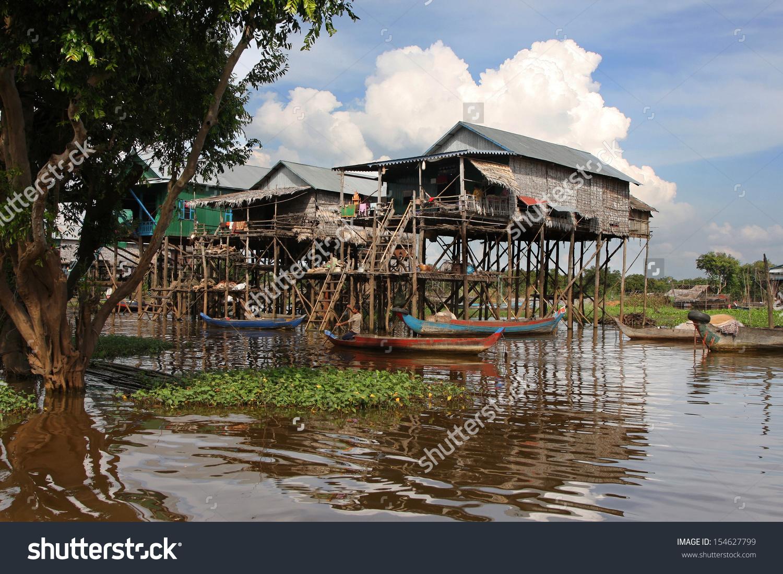 Kampong Phluk Floating Village Tonle Sap Stock Photo 154627799.