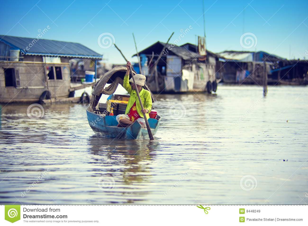 People From Cambodia. Tonle Sap Lake Editorial Stock Image.
