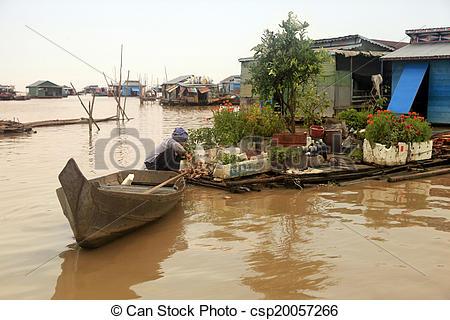 Stock Image of Tonle Sap lake.