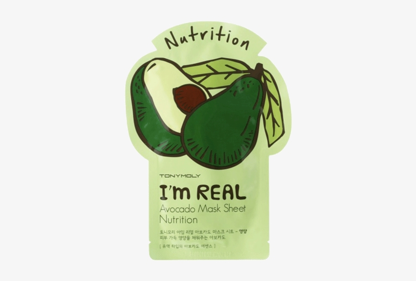 Top Face Masks Tony Moly I\'m Real Avacado Sheet Mask.