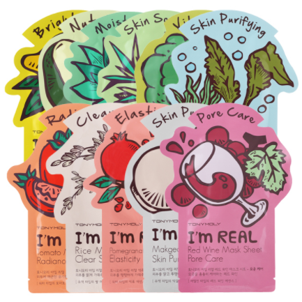Korean Cosmetic Tony Moly I_m Real Mask.