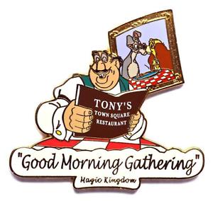 Details about Disney Pin 30128 MK Good Morning Gathering Lady & Tramp  Tony\'s Restaurant GWP.