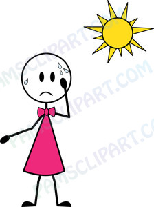 Too Hot Weather Clip Art.