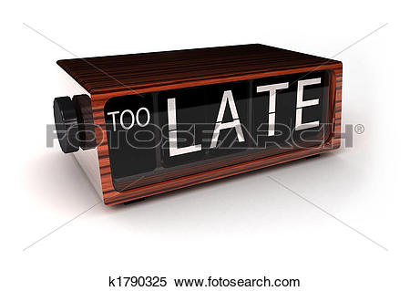 Stock Image of Too late k1790325.