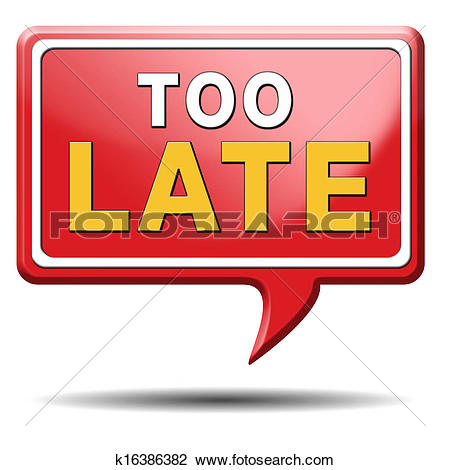 Clip Art of too late k16386382.