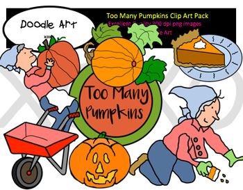 Too Many Pumpkins Clipart Pack.