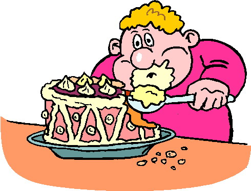 Eating Cake Clipart.