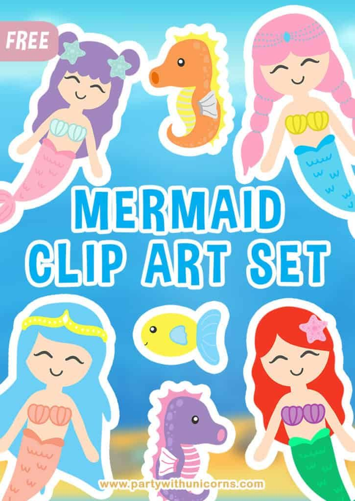 Mermaid Clip Art.