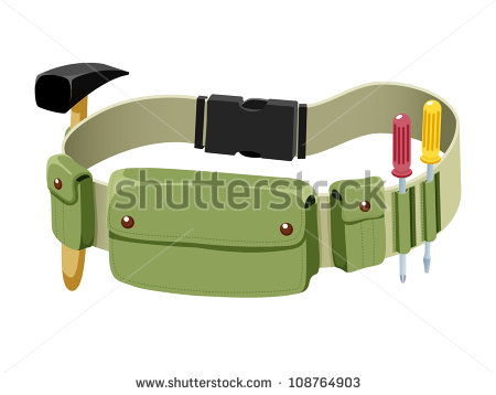 Empty Tool Belt Clipart Tools Belt Isolated On White #r31Ve6.