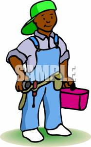 Art Image: A Handyman with a Tool Belt.