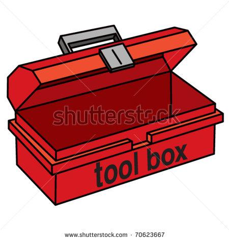 Open empty toolbox clipart.