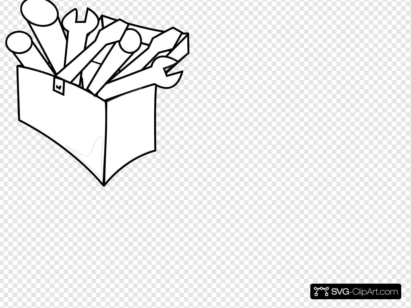 White Tool Box Clip art, Icon and SVG.