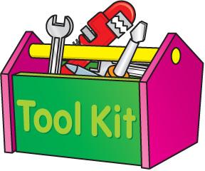 Clip art tool box.
