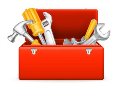 Tool Box With Tools Clipart.