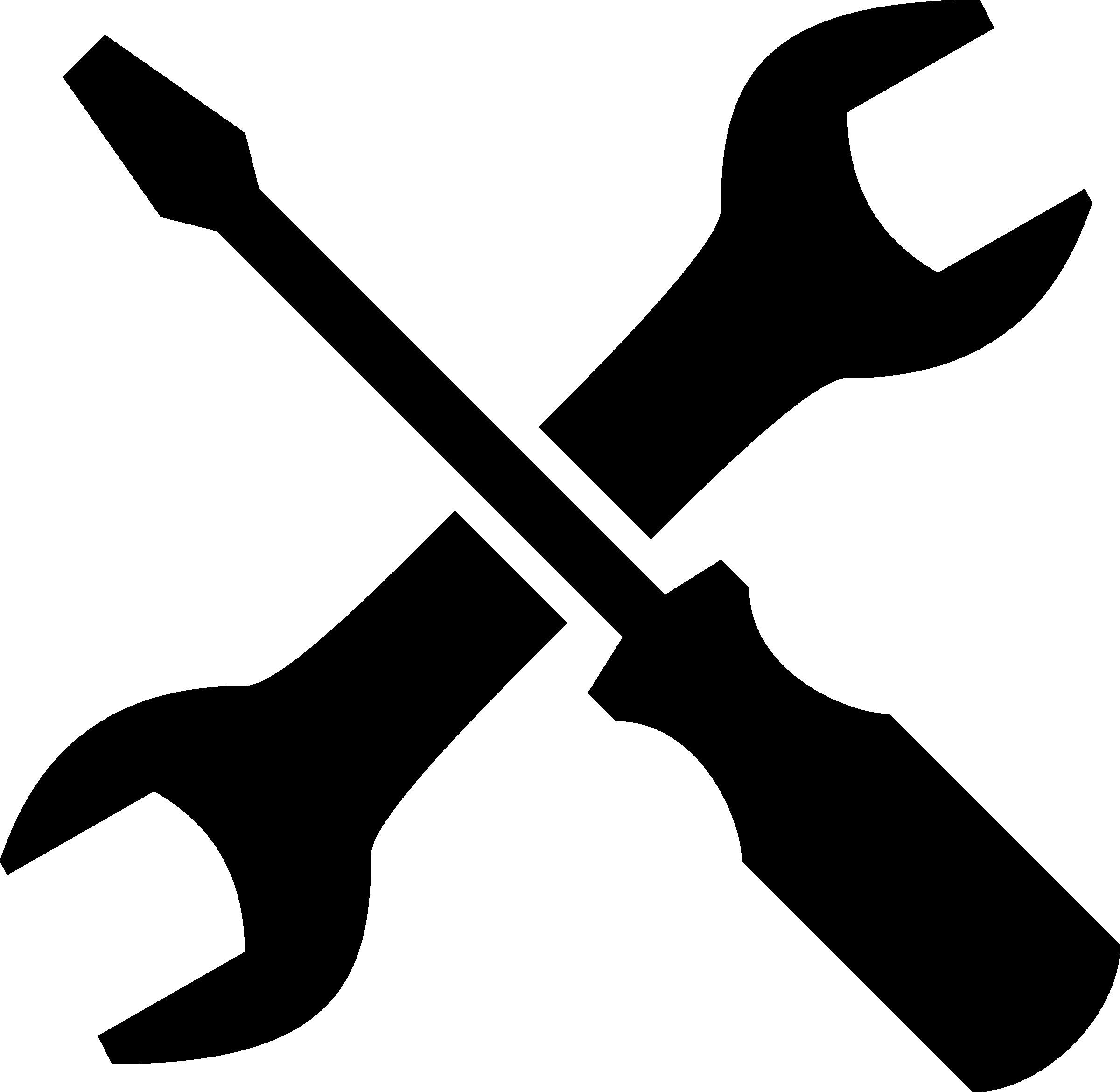 Unique Construction Tools Clip Art Black And White Design.