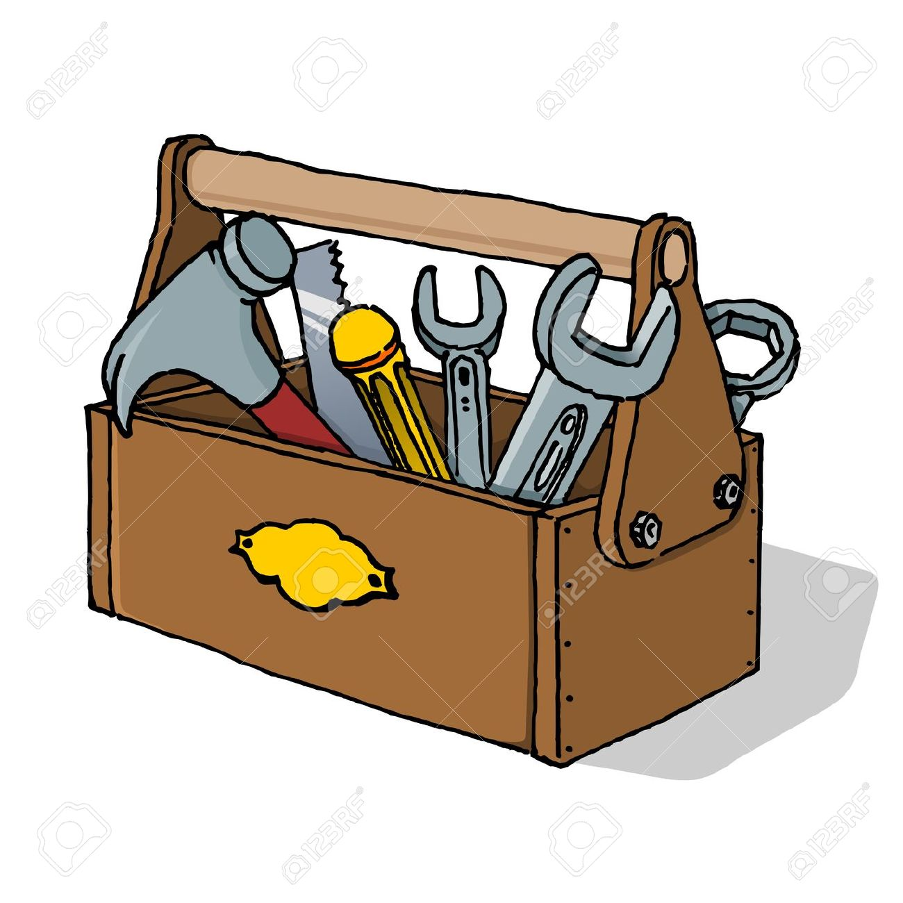 Wood Toolbox Clipart |...