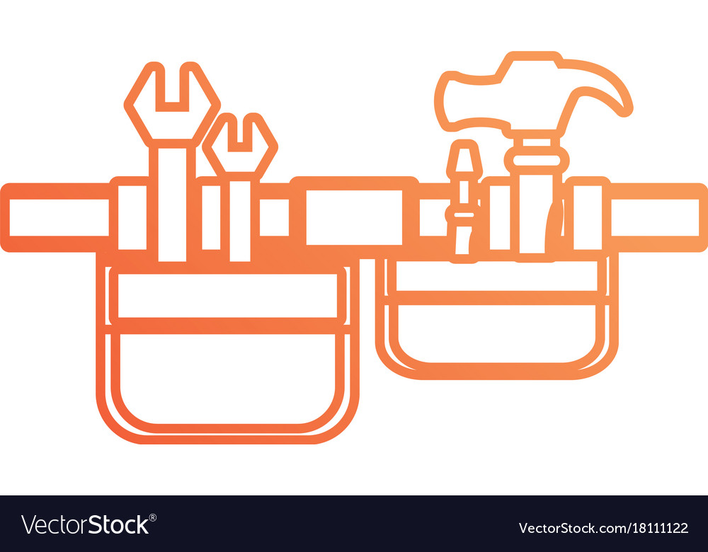 Tool belt vector image.