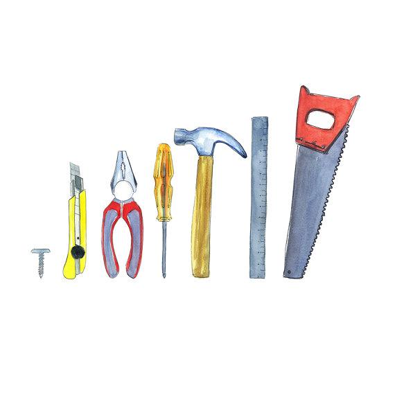 Tools Clipart Tools kit instant download Construction Tool set.
