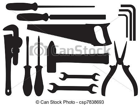 Hand tools clipart.