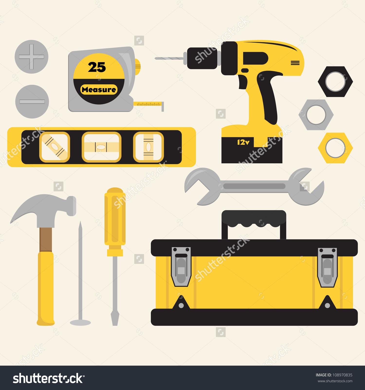 Clip Art Tools Toolbox Set Stock Vector 108970835.