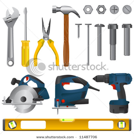 of a Set of Tools or a Toolset As Shown in This Vector Clip Art.