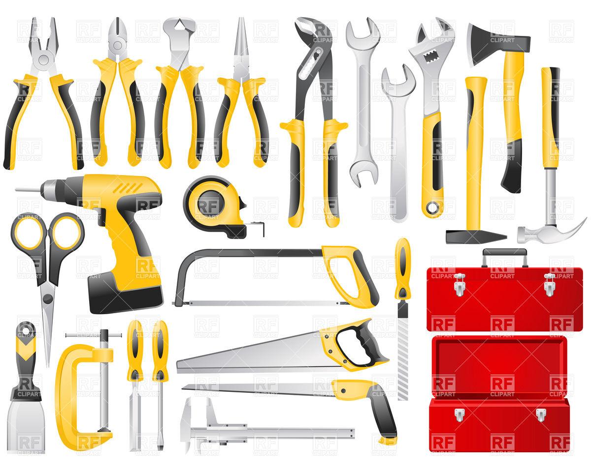 Hand work tools set Vector Image #6101.