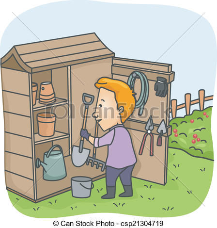 Tool shed Vector Clipart Royalty Free. 79 Tool shed clip art.