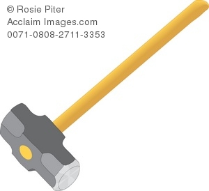 Royalty Free Clipart Illustration of a Sledge Hammer.