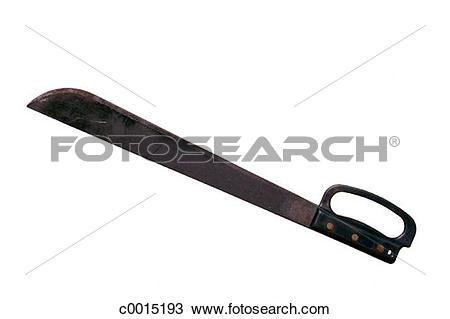 Stock Photo of silhouette, knife, metal, tool, steel, still.