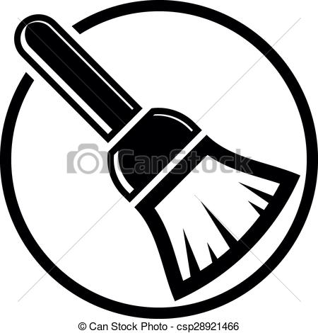 Clip Art Vector of Renovation and repair instrument, brush for.