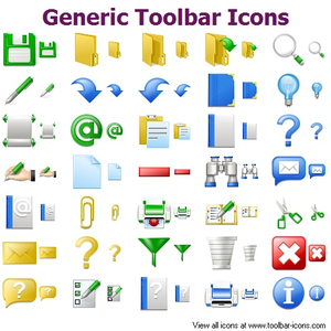 Generic Toolbar Icons.