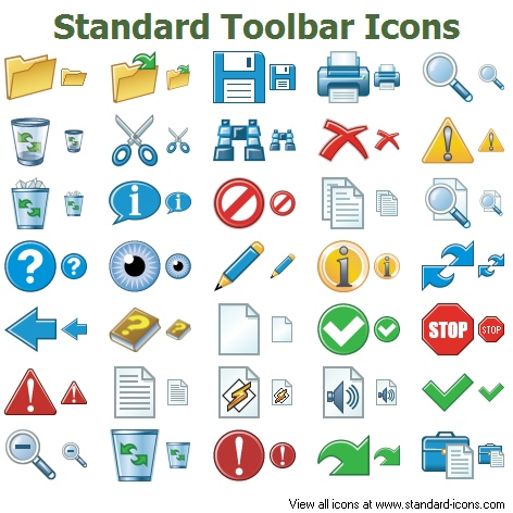 Standard Toolbar Icons.