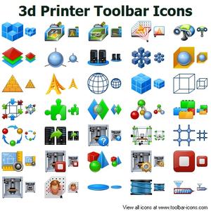 3d Printer Toolbar Icons.
