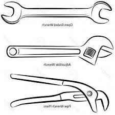 Image result for CLIPART black and white workshop tools.