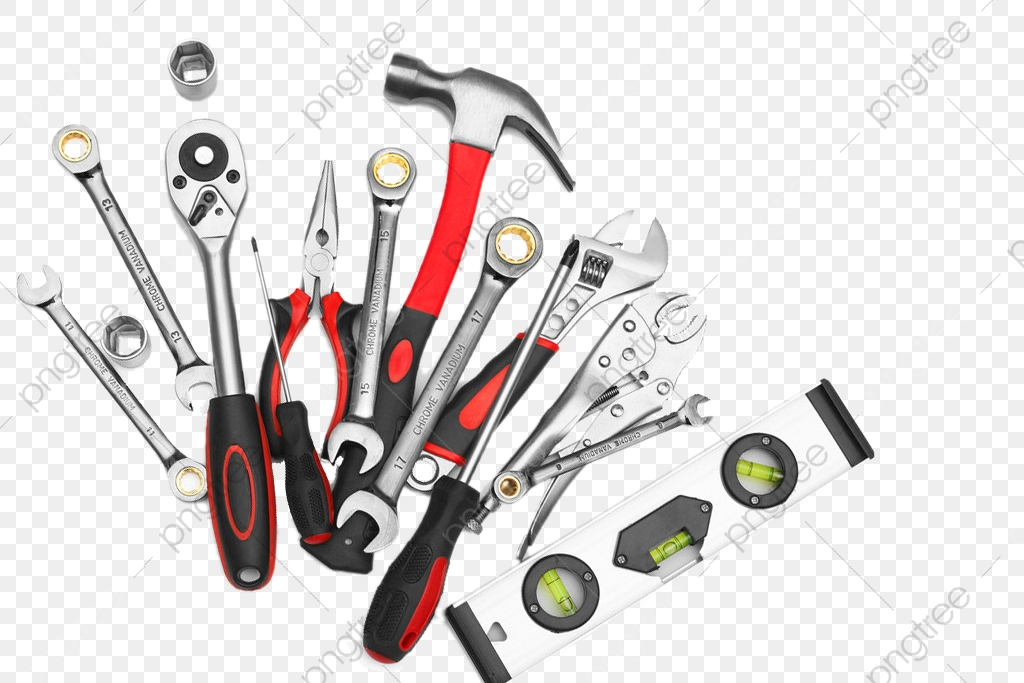 Hardware Tools Collection, Tools Clipart, Hammer, Metal PNG.
