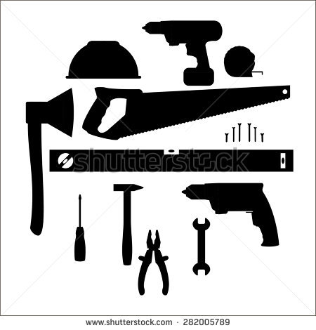 Vector Tools Silhouette Set Stock Vector 36970816.