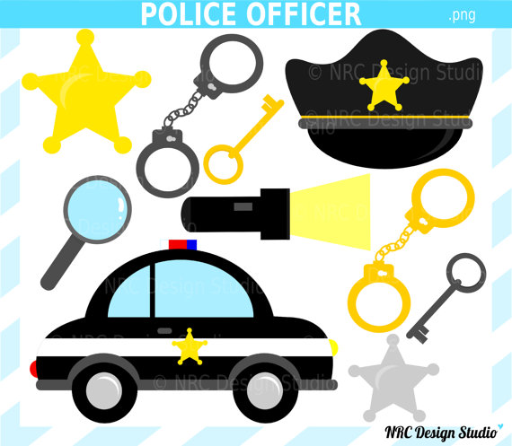 Police tools clipart.