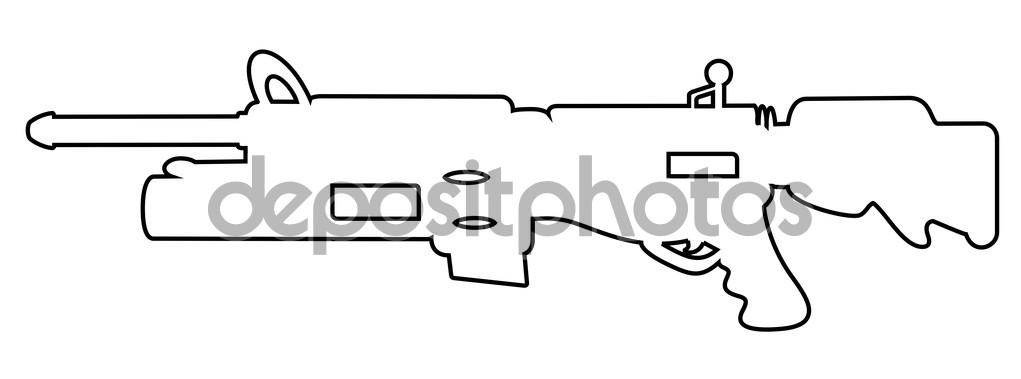 Shape of Shooting Gun — Stock Vector © baavli #64554673.