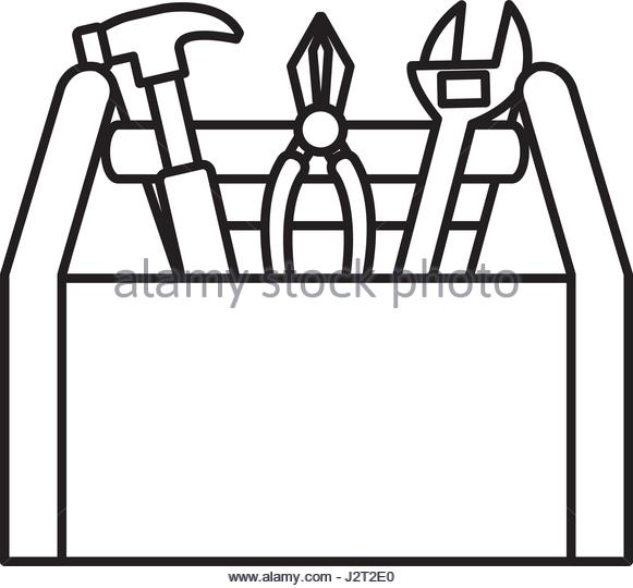 Tool Box Clipart Black And White.