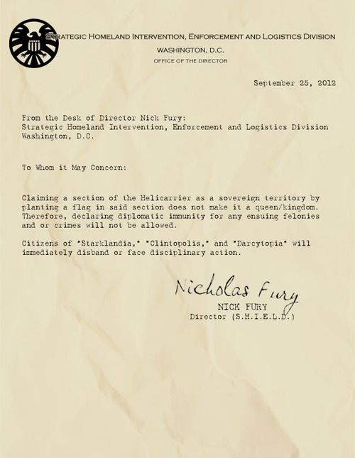 86 best images about Letters From The Desk of Nick Fury on.