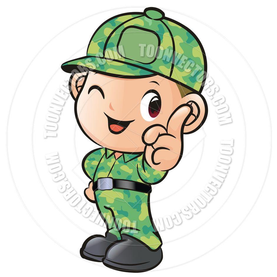 Cartoon Soldier Boy By Boians Cho Joo Young Toon Vectors Eps.