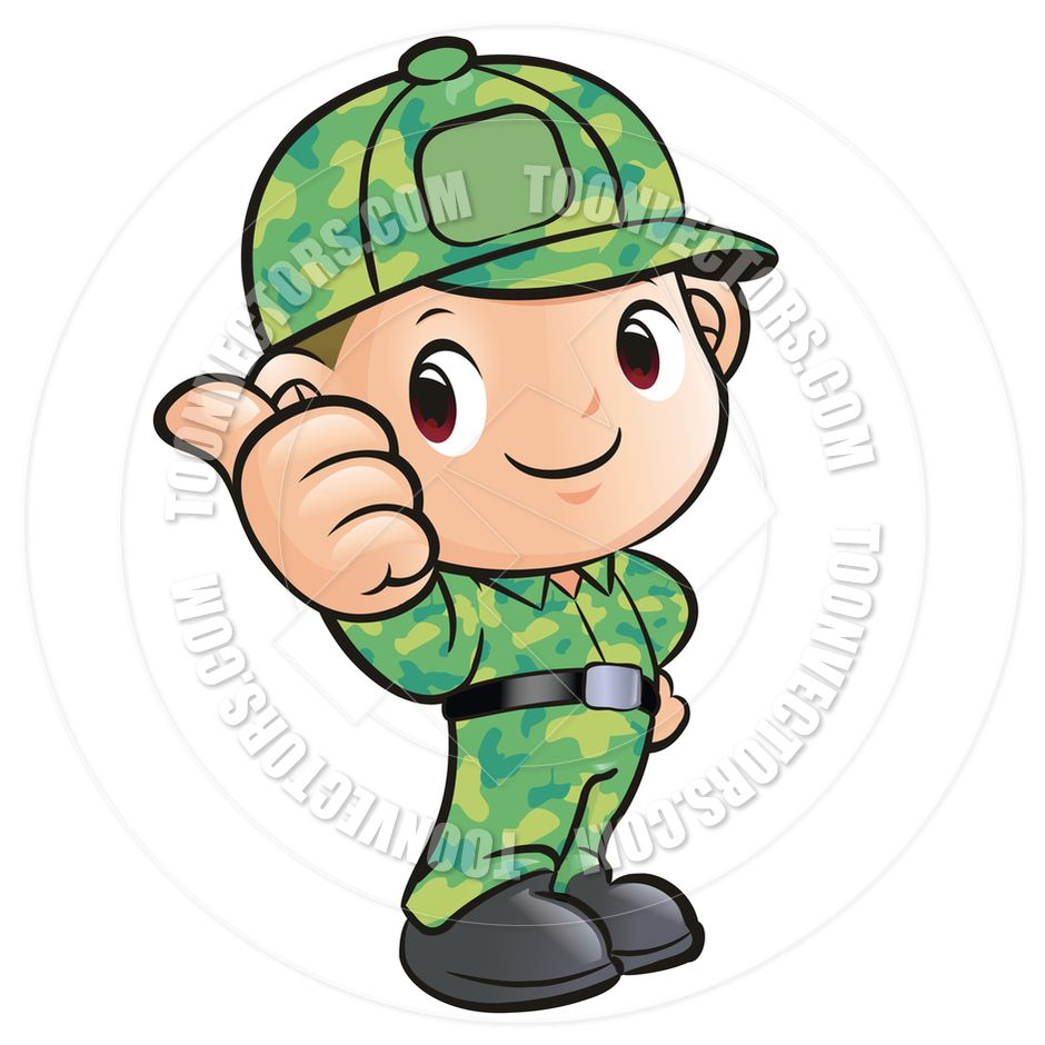 Cartoon Soldier Thumbs Up By Boians Cho Joo Young Toon.