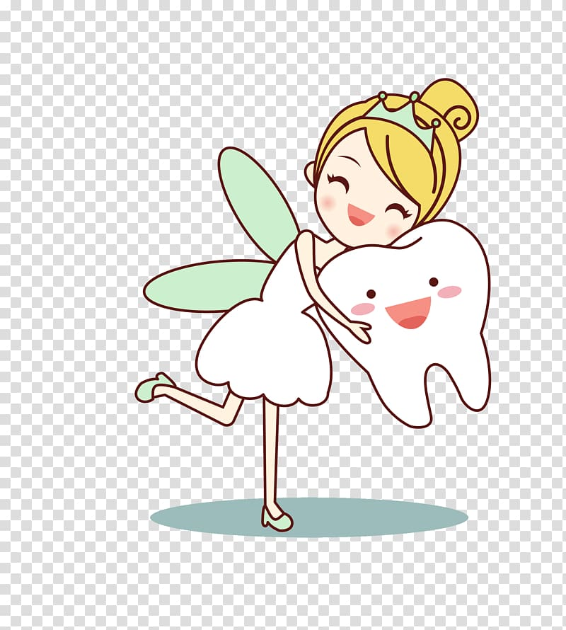 Tooth fairy illustration, Tooth fairy Cartoon Human tooth.