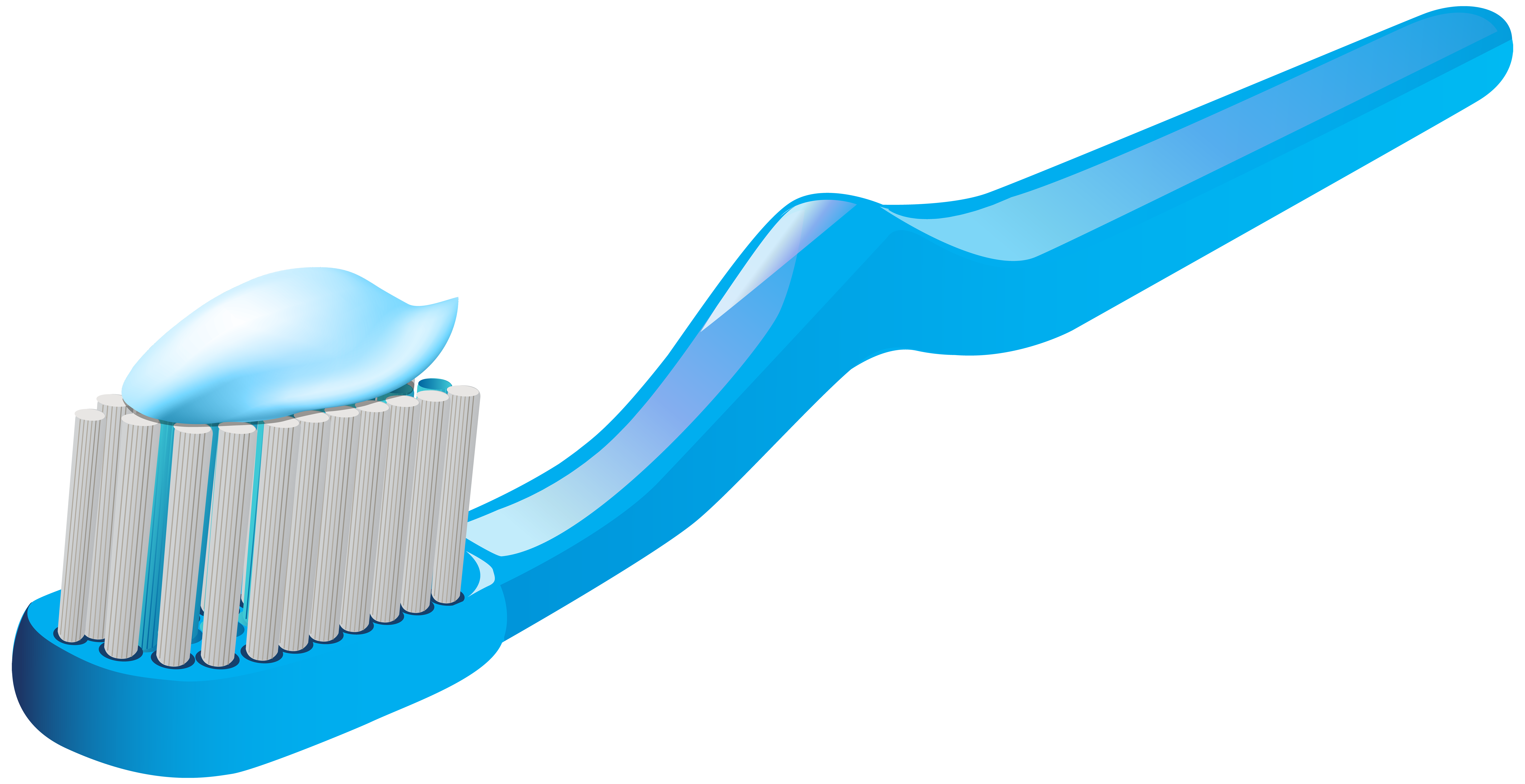 Toothbrush and Toothpaste PNG Clip Art.