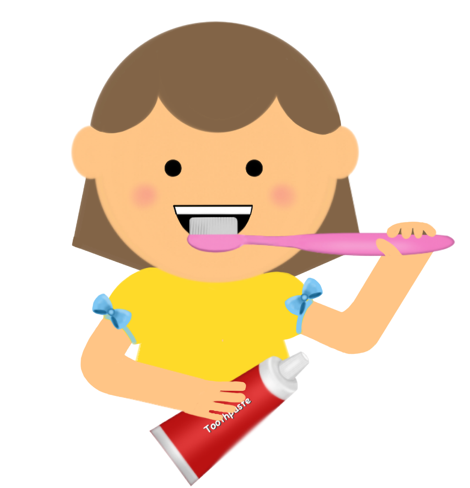 Boy Brushing Teeth Clipart.