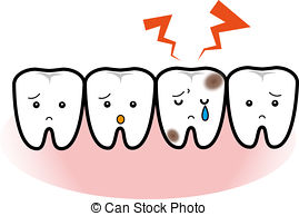 Tooth With Cavity Clipart.
