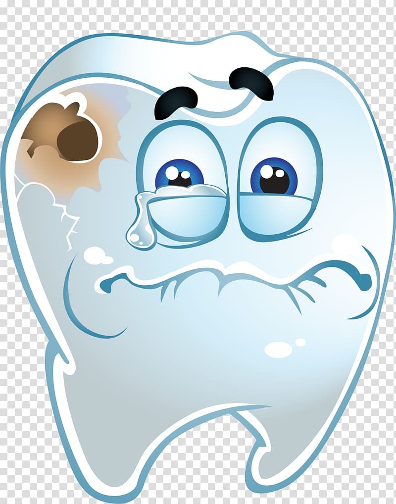 White tooth with cavity illustration, Tooth decay Dentistry.