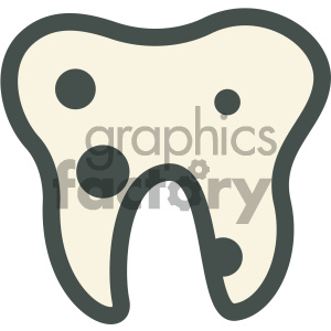 cavities tooth decay dental vector flat icon designs . Royalty.